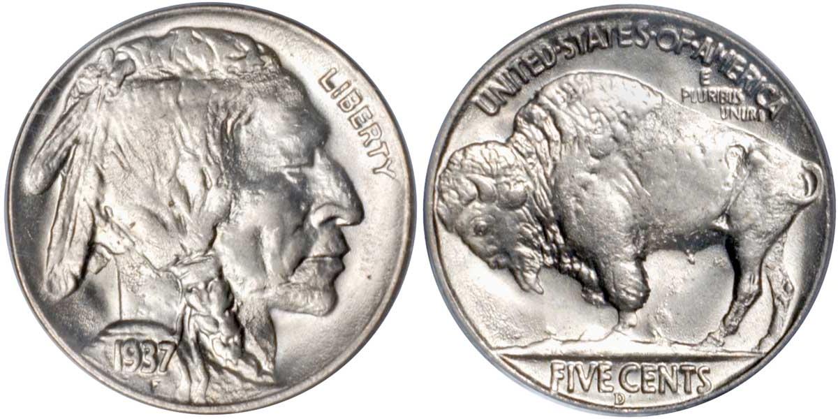 1937 Buffalo Nickel Rare Buffalo Nickel
